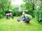 De eerste keer kamperen tijdens deze tocht