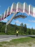 jippie onder de poort door naar het noorden van Noorwegen.