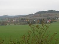 zicht op het dorp