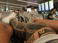 wachten voor boarding