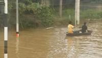 overstroming onderweg naar Pattaya