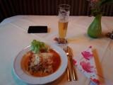 Vegetarische lasagne, heerlijk.