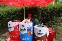 verkoopster van drankjes