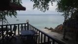Uitzicht uit ons huisje op Palau Kapas