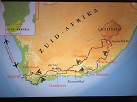 Reisroute motorreis Zuid-Afrika