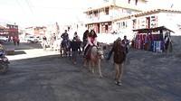 Muktinath. toeristen te paard