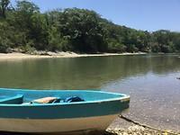 De rivier waar we over moeten