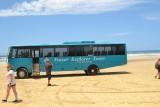de 4 wheeldrive bus Fraser Island