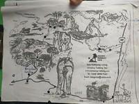 Dit is de trekking op n plattegrond