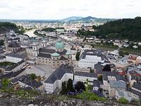 Salzburg vanaf het kasteel