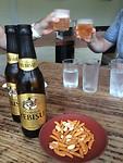 Genieten van een Japans biertje