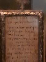 In kerk van Spoleto: Fragment van brief Franciscus aan broeder Leo