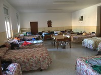 Slaapzaal in het klooster