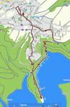 Kaart wandeling vanuit Schmidt