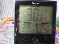 De temperatuur in de zon binnen en buiten!
