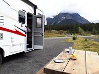 Onze campsite in Banff