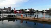 Watervliegtuig klaar voor vertrek.