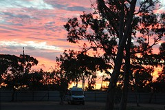 Zonsondergang in Port Augusta