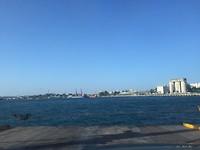 Helemaal vooraan op de ferry
