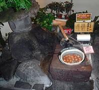 Eitjes koken in de warmwaterbron
