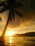 zonsopkomst op koh rong sanloem, het eiland
