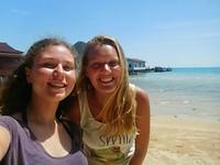 Miek en ik op koh rong sanloem, het eiland