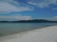 een eiland die we bezochten tijdens het snorkelen