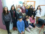 Sam, Cindy, Samira & Joost met hun mede-Comenius-leerlingen