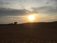 Ondergaande zon en zandduin