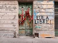 Straatbeeld in het oude centrum van Montevideo