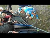 Paris- Roubaix 2012 Arenberg crash.