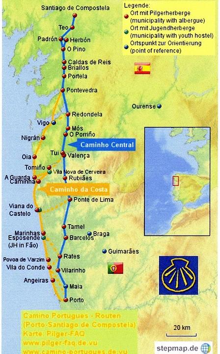 Camino Portugues Karte.Mijn Weg Foto Chrisonderwegnaarsantiago