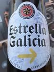 Bestaat echt: Camino-bier!!! Smaakte goed!!