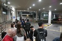 terug naar het hotel, taxi standplaats