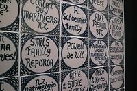Enkele namen van de eerste emigranten in Foxton, de Wit