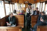 De tram bestuurster in Christchurch