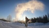 Sneeuw maken bij -30 graden Celsius