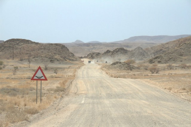 Snelweg in Namibie