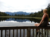 Uitzicht over Lake Matheson