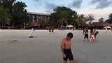Het drukste strand van Langkawi.....