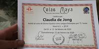 Diploma bij Celas Maya