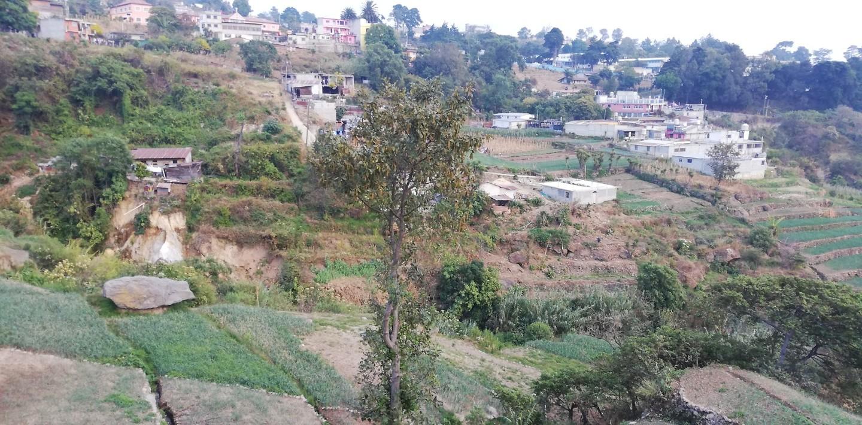 Akkers en terrassen op de berghelling