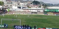 Voetbalwedstrijd Sololá