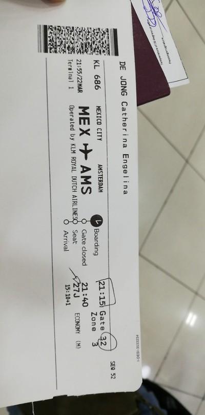 Ticket MEX - AMS