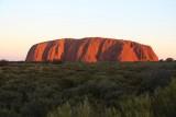 The Rock, Uluru, vlak voor zonsondergang