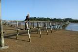 De langste voetbrug over water op het zuidelijke halfrond in Whannaki