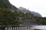 De waterkrachtcentrale in Lake Manapouri