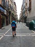 Coby in Pamplona.