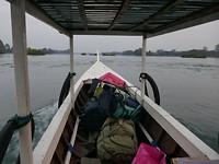 17Naar Khone Island - in de boot