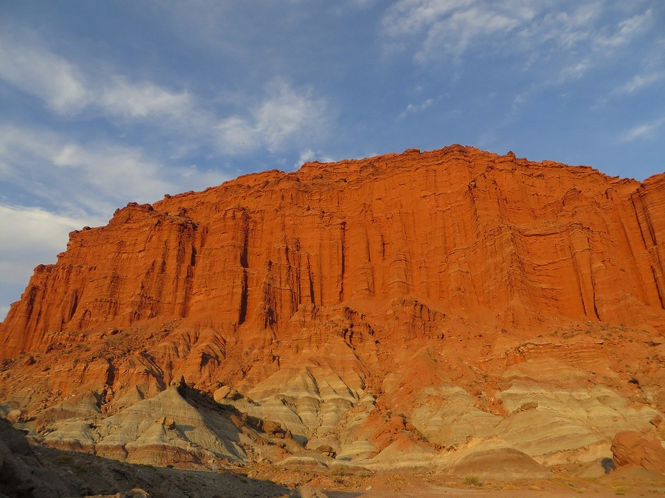 Red Cliffs With Statues Painting Fantasy